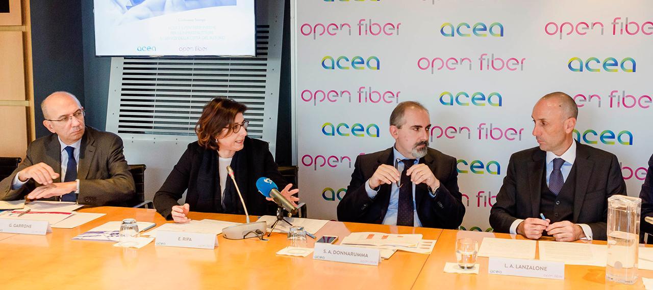 Accordo tra Acea e Open Fiber